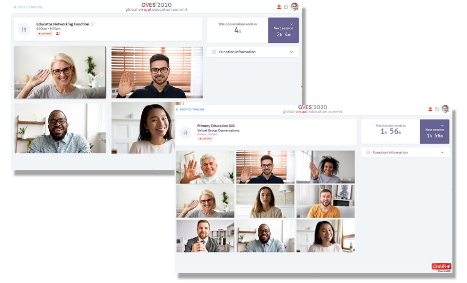 skjermbilde som viser networking i OnAir