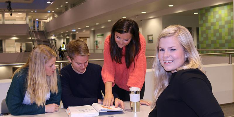Illustrasjonsfoto. Studenter på Handelshøyskolen i gruppearbeid.