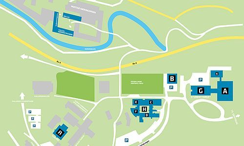 Kart over NTNU i Gjøvik