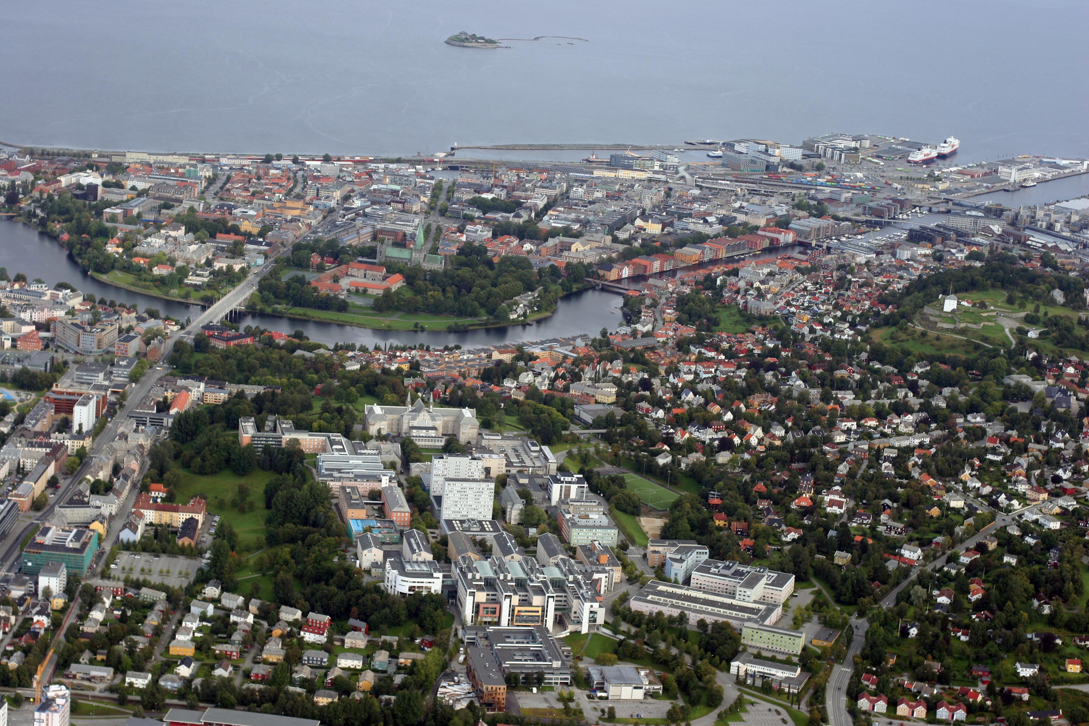 Aerial view of Gløshaugplatået.