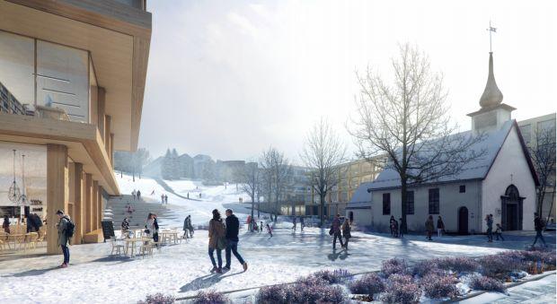 Illustration of new university buildings along Klæbuveien.....