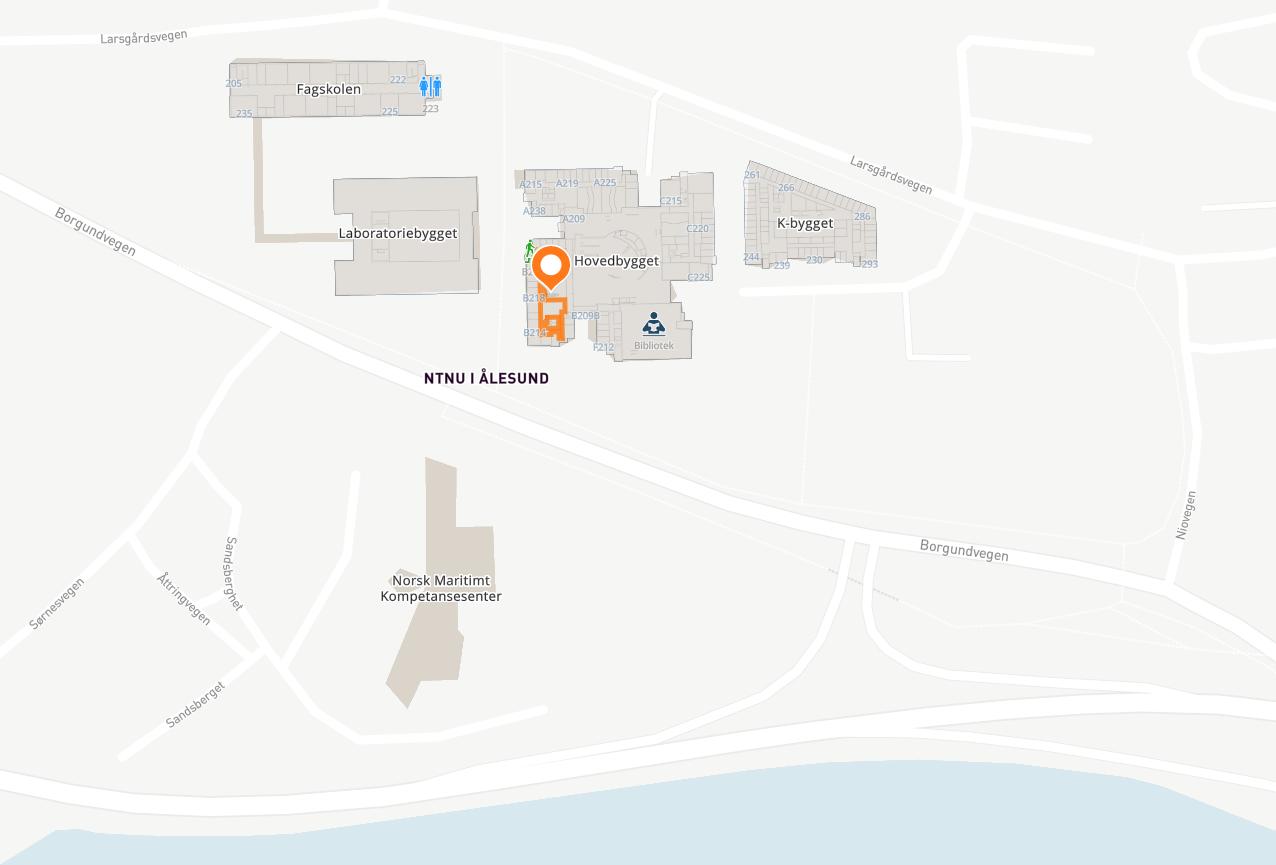 Kart over Ålesund. Illustrasjon