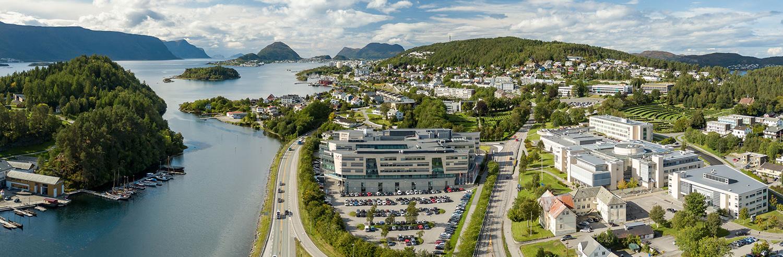 Oversiktsbilde av NTNU i Ålesund.