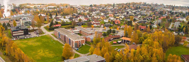 Oversiktsbilde av NTNU i Gjøvik.