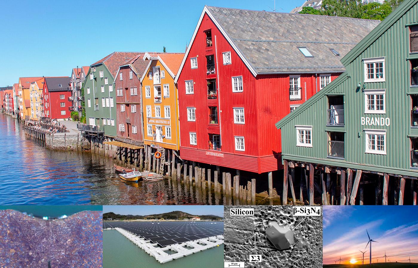 Bryggene i Trondheim, materialer, solcellepanel og vindmøller