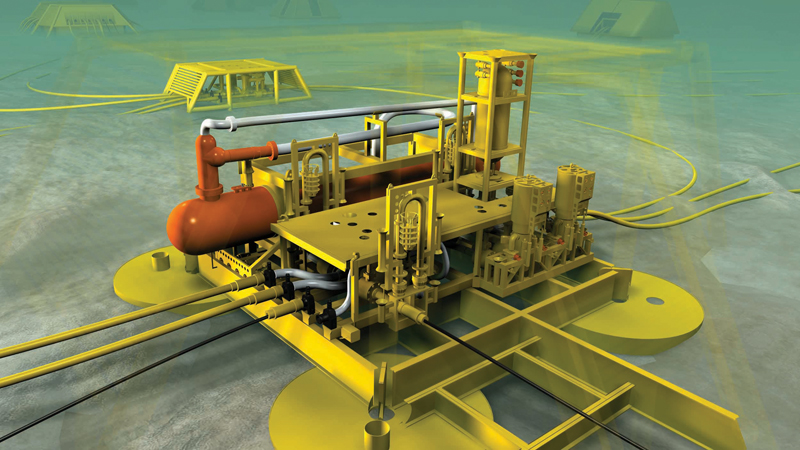 Bilde: A rendering of a subsea separation system at Tordis