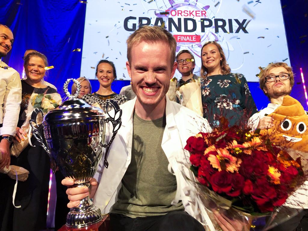 Daniel Vethe vant FGP 2019. Foto: Yngve Vogt/UiO