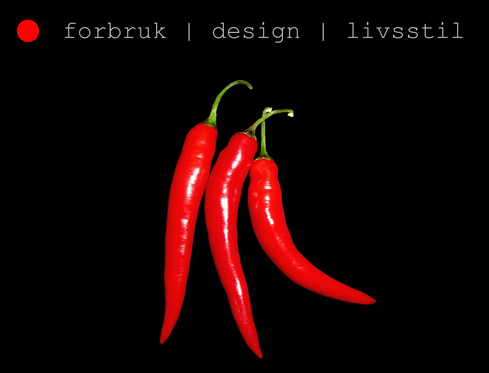 forbruk | design | livsstil - illustrert med chili