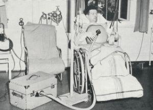 Respirator konstruert ved Sentralinstituttet for industriell forskning på 1950-tallet.