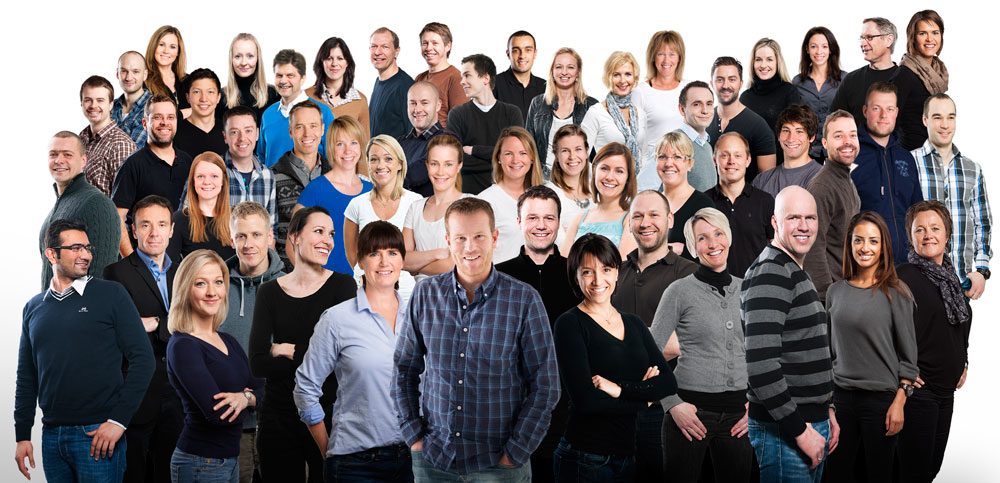 Group picture of all employees at CERG. Photo: Berre AS