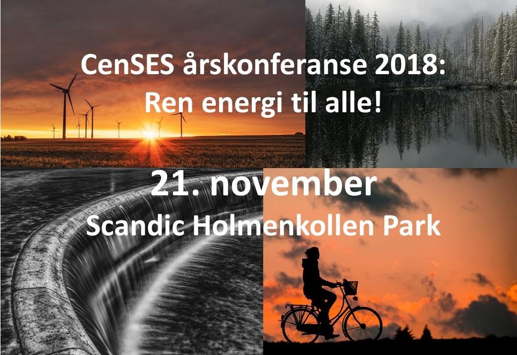 CenSES årskonferanse 2018, 21. november, Scandic Holmenkollen Park