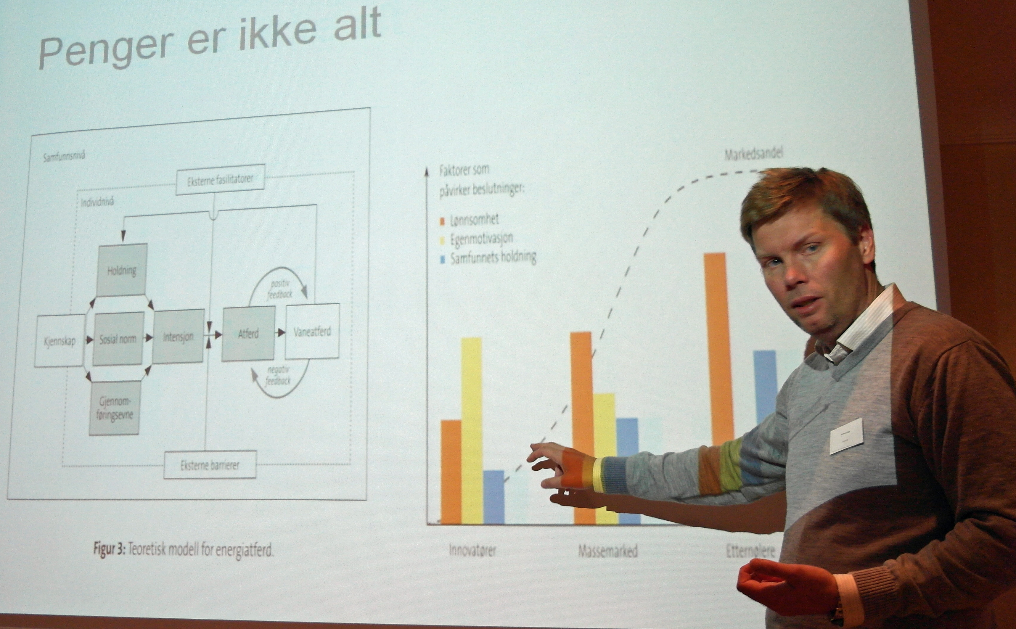 Andreas K. Enge fra Enova reiser spørsmålet: Energy efficiency improvements: Missing in action, or why don't consumers behave? Foto: CenSES