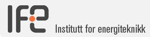 logo Institutt for energiteknikk, IFE, gå til IFEs nettsted