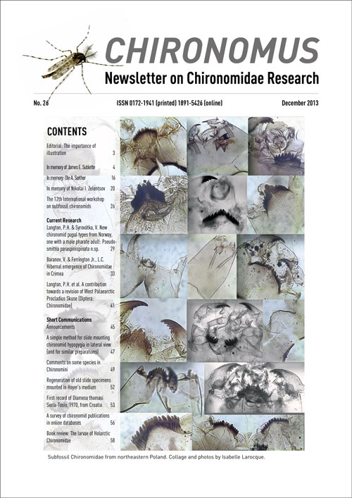 Chironomus Newsletter on Chironomidae Research issue 26