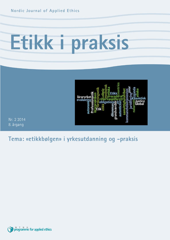 «etikkbølgen» i yrkesutdanning og -praksis