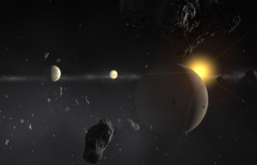 Exoplanets and ExoEarths Credit ESO